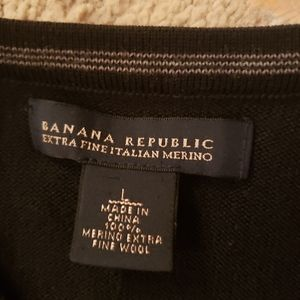 Mens Banana Republic extra fine italian wool sweat